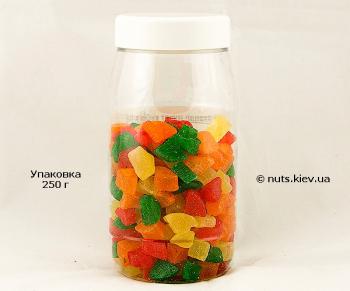 Ананас цукат кубик микс - Упаковка 250 г