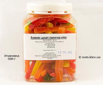 Ананас цукат палочка микс - Упаковка 500 г