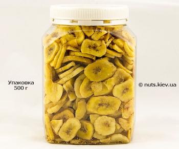 Банан сушеный чипсы - Упаковка 500 г