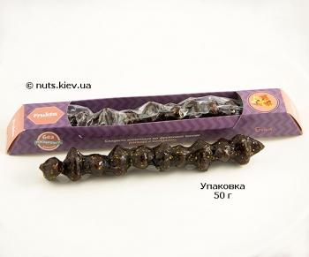 Чурчхела с миндалем и инжиром в виноградно-яблочном соку - Упаковка 50 г