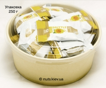 Грильяж подсолнечный в шоколадной глазури в обертке - Упаковка 250 г