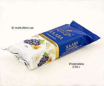 Халва подсолнечная с арахисом и изюмом - Упаковка 270 г