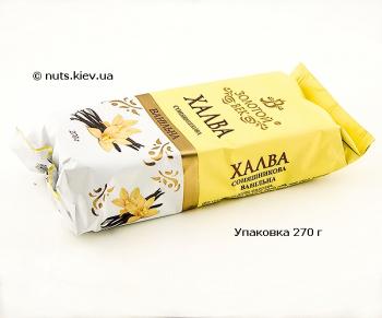 Халва подсолнечная ванильная - Упаковка 270 г
