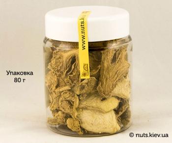 Имбирь сушеный резаный - Упаковка 80 г