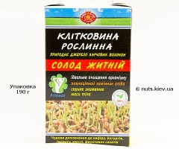 Клетчатка солода ржаного - Упаковка 190 г