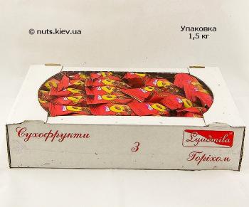 Персик с грецким орехом в шоколаде - Упаковка 1500 г