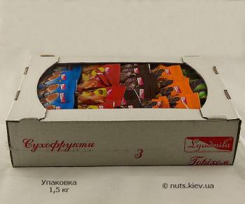 Конфеты Сухофрукты с орехом в шоколаде Ассорти - Упаковка 1500 г