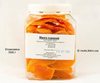 Манго сушеный - Упаковка 500 г