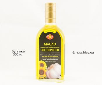 Масло чесночное подсолнечное нерафинированное - Бутылка 350 мл