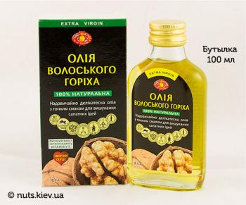 Масло грецкого ореха растительное нерафинированное - Бутылка 100 мл