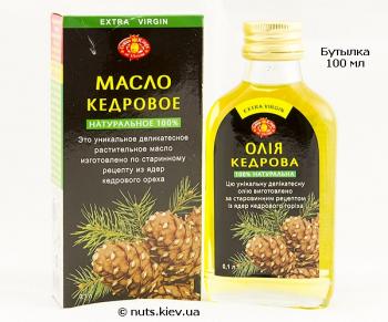 Масло кедровое нерафинированное - Бутылка 100 мл