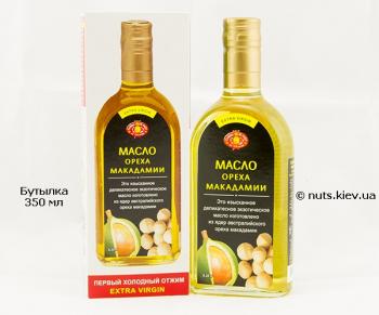 Масло ореха макадамии нерафинированное - Бутылка 350 мл