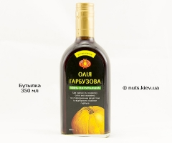 Масло тыквенное нерафинированное - Бутылка 350 мл