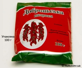 Паприка молотая Доброньская - Упаковка 100 г