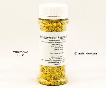 Приправа гранулированная 15 овощей трав и специй - Упаковка 85 г