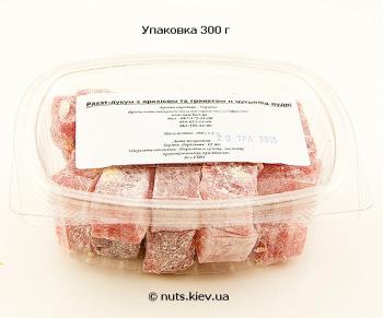 Рахат-лукум с арахисом и гранатом в сахарной пудре - Упаковка 300 г
