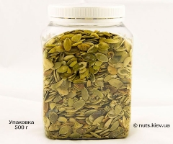 Семечки тыквы сырые очищенные - Упаковка 500 г