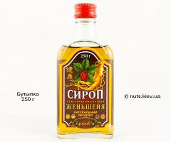 Сироп с экстрактом корня женьшеня - Бутылка 250 г