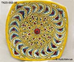 Тарелка квадратная 23 см - 002