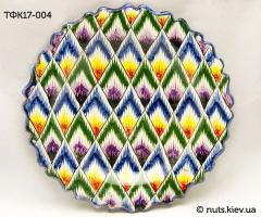 Тарелка с фигурными краями 17 см - 004