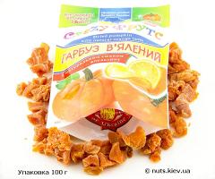 Тыква вяленая с натуральным вкусом апельсина - Упаковка 100 г