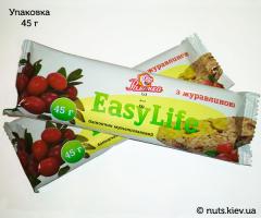 Зерновой батончик EasyLife с клюквой - Упаковка 45 г
