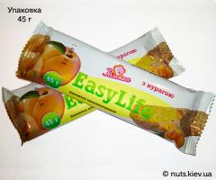 Зерновой батончик EasyLife с курагой - Упаковка 45 г