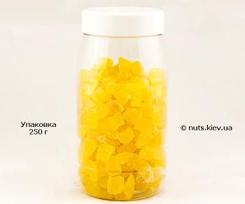 Ананас цукат кубик натурал - Упаковка 250 г