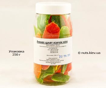 Ананас цукат язычок микс - Упаковка 250 г