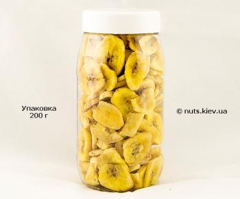 Банан сушеный чипсы - Упаковка 200 г