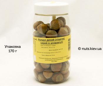 Фундук дикий лещина сырой в кожуре - Упаковка 170 г