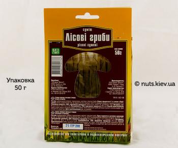 Грибы Лесные резаные сушеные смесь - Упаковка 50 г