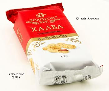Халва подсолнечная с арахисом - Упаковка 270 г