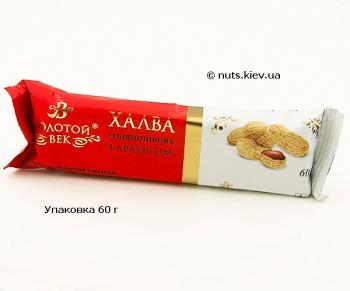 Халва подсолнечная с арахисом - Упаковка 60 г