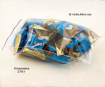 Халва подсолнечная ванильная с кокосовой стружкой в шоколадной глазури - Упаковка 270 г