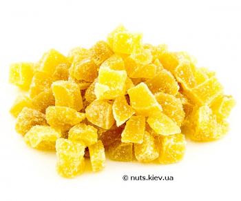 Имбирь в сахаре сушеный кубик