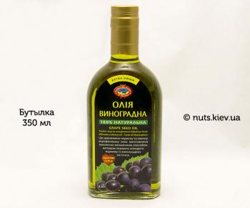 Масло виноградных косточек растительное нерафинированное - Бутылка 350 мл
