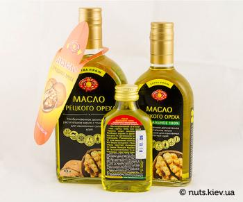 Масло грецкого ореха растительное нерафинированное