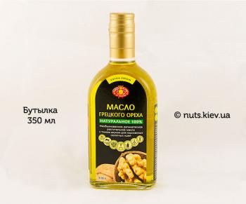 Масло грецкого ореха растительное нерафинированное - Бутылка 350 мл