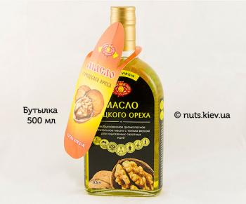 Масло грецкого ореха растительное нерафинированное - Бутылка 500 мл