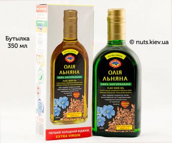 Масло льняное растительное нерафинированное - Бутылка 350 мл