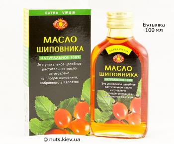 Масло шиповника подсолнечное нерафинированное - Бутылка 100 мл