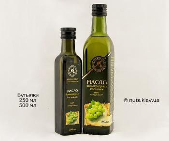 Масло виноградных косточек растительное рафинированное - Бутылки 250 мл и 500 мл