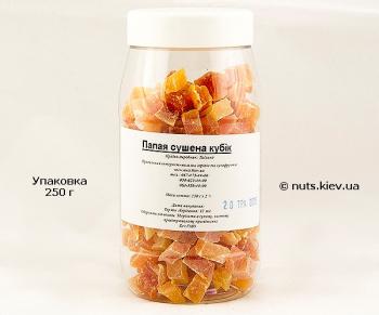 Папайя сушеная кубик - Упаковка 250 г