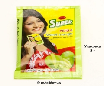 Пикули сладкие из мякоти манго бенгальские Pran - Упаковка 8 г